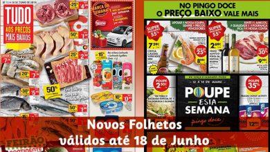 Folhetos Continente e Pingo Doce até 18-06-2018