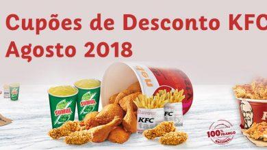 Cupões de Desconto KFC Agosto de 2018
