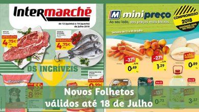 Folhetos Intermarché e Minipreço até 18-07-2018