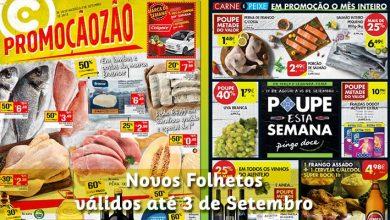 Folhetos Continente e Pingo Doce até 03-09-2018