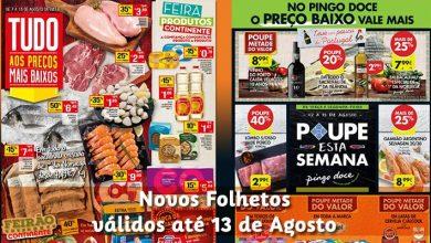 Folhetos Continente e Pingo Doce até 13-08-2018