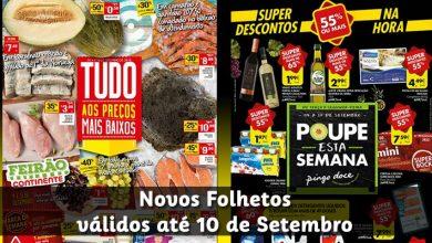 Folhetos Continente e Pingo Doce até 10-09-2018
