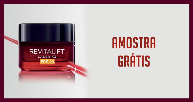 Photo of Amostra Gratuita Revitalift Laser X3