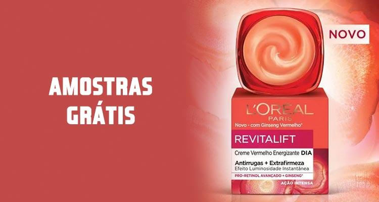 Photo of Amostras Revitalift Creme Vermelho