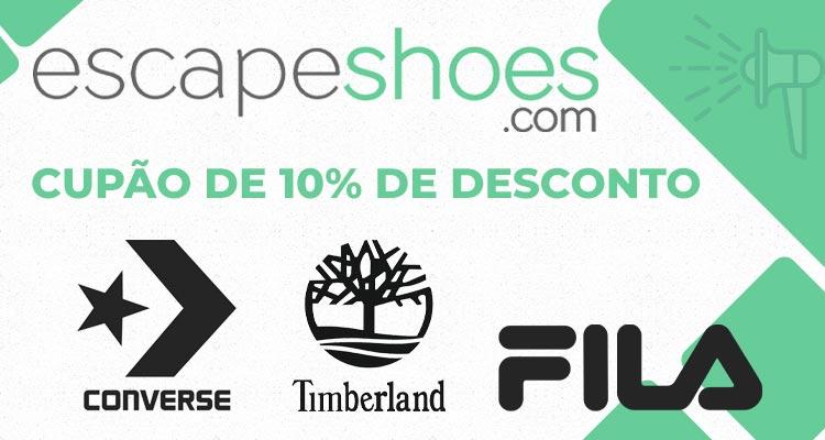 Photo of Cupão com 10% de Desconto Escapeshoes